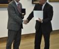 Почетен знак и грамота на НБУ за посланик Отие