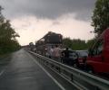 Километрично задръстване на пътя между Созопол и Бургас