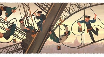 Google отбелязват годишнината на Айфеловата кула