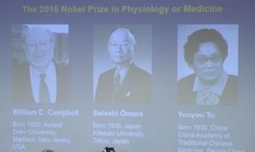 Трима учени поделят Нобел за медицина за 2015 г.