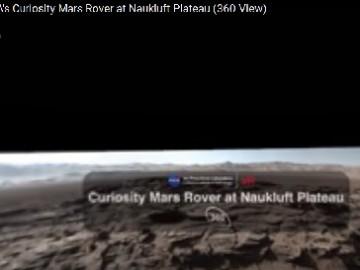 Марсоходът показва какво има на Марс от вай-високата му точка